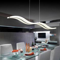 Popular Wave Style Modern LED Lighting Chandelier Ceiling Light Lamp Dining Living Room