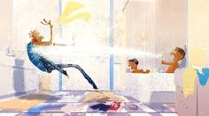 Under pressure. #pascalcampionart   The sad thing is that it is really not that far from the truth.