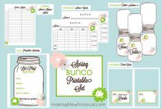 FREE Printable Bunco Set for Spring www.makinglifewhimsical.com #bunco