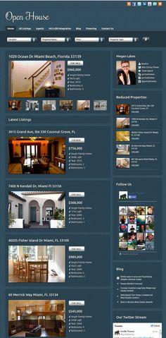 Open House Real Estate Agents WordPress Theme