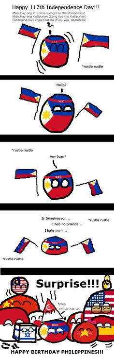( Philippines ) by Happy Philippine Independence Day! ( Philippines ) by Filipino Quotes, Filipino Humor, History Jokes, Italian Humor, Short Comics, Country Men, Comic Panels, Funny Comics, Independence Day