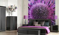 Purple can be used in girls' or women's bedroom. Purple bedrooms look elegant, graceful and romantic. Choosing purple for your bedroom design is classy.