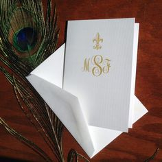 Fleur De Lis Stationery Set custom by VeronicaFoleyDesign on Etsy