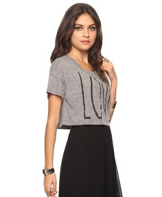 Cropped tee under 15. $12.80