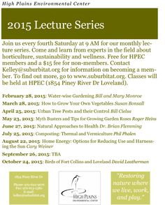 Learn from experts about horticulture, sustainability and wellness.