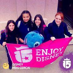 Seguimos visitando los coles! También en Córdoba como es el caso de las chicas de Colegio Robles! #promoteam2016 con #enjoy15 Preparate #WaltDisneyWorld!