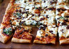 Spinach, Bacon & Feta Pizza