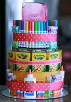 For the young artist - Teacher Appreciation Week - School Supply Cake