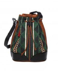 5cbc66004342 Multi Cotton Leather Trim Dari Chowk Bucket Bag