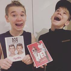"""OMG!!!! Både """" Hei fan spesial """" og """" Together """" ligger på topp 10 i både #sverige og #norge // OMG!!!! Our album """" Hei fan spesial """" and """" Together"""" are on top 10 in #sweden and #norway ! Thank you so much for your support, We love you❤️"""