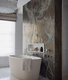 Bathroom feature bath tub wall st john s wood taylor howes bath bathroom feature howes johns st taylor tub wall wood Interior Design London, Luxury Interior Design, Bathroom Interior Design, Kitchen Interior, Bad Inspiration, Bathroom Inspiration, Dream Bathrooms, Beautiful Bathrooms, Hotel Bathrooms