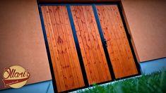 (14) YouTube Wooden Gates, Iron Work, Folding Doors, Garage Workshop, Metal Working, Garage Doors, Steel, Building, Garage Ideas