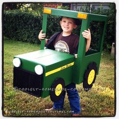 Coolest John Deere Tractor Costume for 4-Year Old Boy