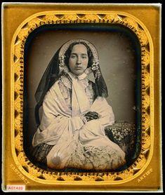 Miriam Bailey Easterly in her wedding ensemble, 1850
