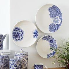 Wall Art - Cobalt Flower Plates | SERRV #FairTuesday
