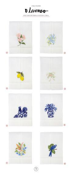 Nos lavabos, as toalhas ganham um lugar especial e importante. Quanto mais charmosas, mais chances de dar esse toque de carinho e estilo a mais.Para os apaixonados por toalhinhas de lavabo, selecionamos uma série de modelos em linho e bordados da loja onlineVestindo a Mesa. Cada uma delas, traz cores e um mood diferente que pode combinar não apenas com a decoração do espaço, mas também, entrar no clima e no tema de um evento específico.