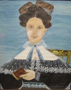 Portrait of Dolly Hackett of Hooksett, N.H. (1832). Held at Fruitlands.