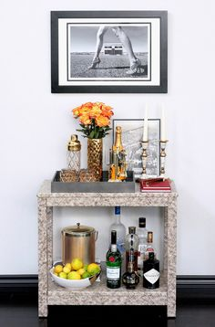Erika Brechtel for Society Social Draper bar cart Gray Malin