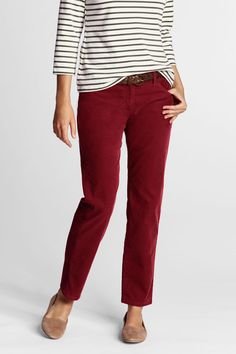 Women's Fit 1 Slim Ankle Corduroy Pants from Lands' End
