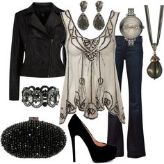 Night Out in the City, created by goharv on Polyvore