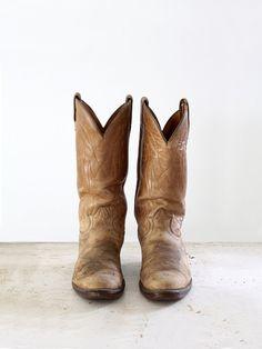 Western Boots / 1970s Tony Lama Boots / Vintage Cowboy Boots / Mens 9 $180