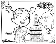 disney coloring pages archives rainbow playhouse coloring pages for kids - Vampirina Coloring Pages
