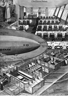 #airship The R 101--a Great British Airship, 1929