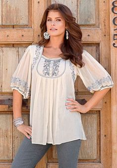 Mirielle Embellished Tunic by Denim 24/7 - Roamans