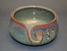 Yarn Bowl by bearhollowpottery on Etsy, $26.00