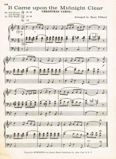 Vintage Christmas Music Page - It Came Upon the Midnight Clear - at KnickofTime.net
