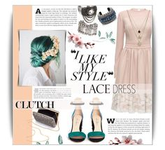 """""""~ Lace dress ~"""" by dolly-valkyrie ❤ liked on Polyvore featuring Lattori, Isa Tapia, LowLuv, Lanvin, H&M, Kate Spade and lacedress"""