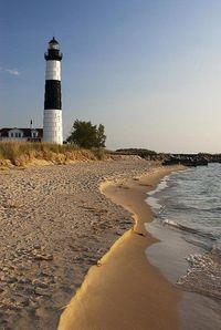Big Sable Point Lighthouse on Lake Michigan. Located in Ludington State Park, north of Ludington, Mi...