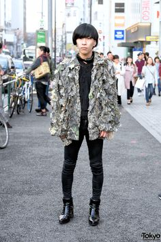 very androgynous style ... Shou | 7 April 2016 | #Fashion #Harajuku (原宿) #Shibuya (渋谷) #Tokyo (東京) #Japan (日本)