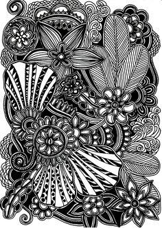| Blooms | #forest #black #white #doodles #doodling #drawing #doodle #art