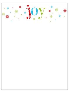 Printable Christmas Stationery to Use for the Holidays: Free Christmas Letterhead Templates from Better Homes and Gardens Christmas Note, Christmas Paper, Christmas Cards, Christmas Letters, Christmas Ideas, Christmas Journal, Cowboy Christmas, Christmas Child, Christmas Things