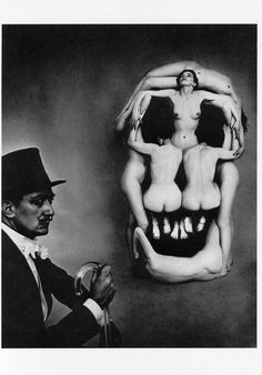 Women forming a skull entitled In Voluptas Mors, photograph by Philippe Halsman (in collaboration with Salvador Dalí), 1951.