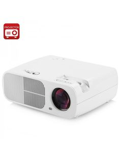 5 Inch TFT LCD LED Projector emits 2600 Lumens, has a Resolution with Support and Manual Focus Lens Led Projector, Projectors