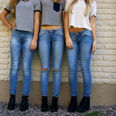 Ripped Jeans Ripped at the Knee Denim Grunge Boho Rocker Hippie Frayed... ($22) ❤ liked on Polyvore featuring jeans, icon pictures, icons, pictures, grey, women's clothing, skinny jeans, light wash distressed skinny jeans, stretch denim jeans and destroyed jeans