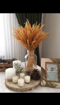 Discover recipes, home ideas, style inspiration and other ideas to try. Fall Home Decor, Autumn Home, Diy Home Decor, Room Decor, Wedding Decorations, Christmas Decorations, Table Decorations, Holiday Decor, Thanksgiving Centerpieces