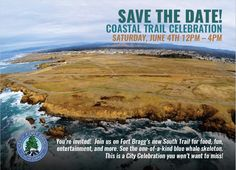 In a previous post, we mentioned the official Grand Opening of the Fort Bragg Coastal Trail, also known as the Coastal Trail Celebration, which is the only official North Coast event to commemorate National Trails Day, on June 4, 2016. Come join us for one of the biggest events on the North Coast, to kick…