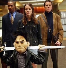 After watching the series over from the beginning it is really funny to see how the characters changed...  And Angel being a puppet.