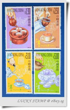 China Hong Kong 2001 Tea Culture Scented Stamps 茗茶藝術 oh no @Toni Hall!!