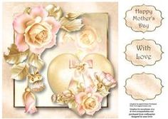 Hearts & Flowers - Pale Pink & Gold 8x8 Quick Topper