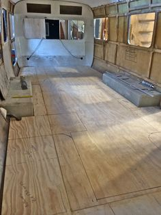 Looking from front to back with floor stencils
