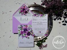 Putem realiza invitatii de nunta personalizate si adaptate evenimentului dvs., invitatii doi intr-unul, invitatii nunta si botez la un loc, invitatii de nunta bilet de avion, invitatii de nunta bilet de tren, bilet de cinema sau invitatii de nunta bilet de teatru, invitatii de nunta florale. Astazi va prezentam un nou model ce-l adaugam in magazinul online Adebo Design – Invitatie nunta Lavia, o invitatie de nunta in care predomina florile de culoare mov si elemente de argintiu. Invitatia… Floral, Flowers, Flower