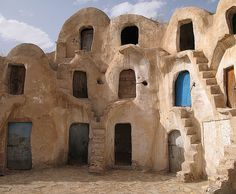 Tataouine, Tunisia (think this may be the inspiration for Anakin's home planet, Tatouine)