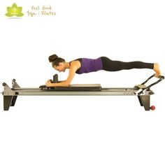half plank control front pilates reformer exercise 2