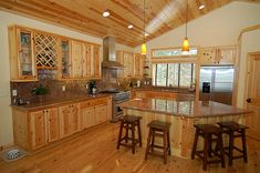 Interior knotty pine door - log home shoppe, Enjoy the natural beauty of our custom knotty pine & cedar doors looks great with wood and drywall!