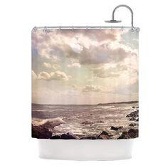 "Debbra Obertanec ""Rocky Coast"" Sea View Shower Curtain - KESS InHouse"