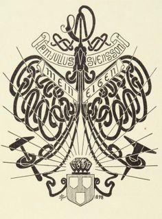 Ex libris by Julius Svensson for Himself, 1898
